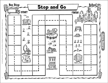 Stop And Go Opposites Game Printable Lesson Plans Ideas