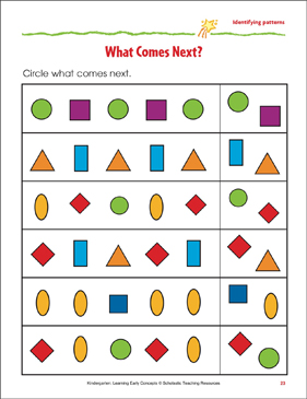 What Comes Next?: Identifying Simple Patterns | Printable ...
