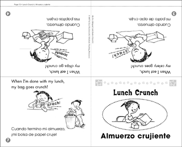 Almuerzo crujiente / Lunch Crunch - Printable Worksheet