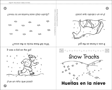 Huellas en la nieve / Snow Tracks - Printable Worksheet