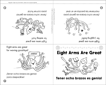 Tener ocho brazos es genial / Eight Arms Are Great - Printable Worksheet