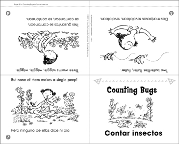 Contar insectos / Counting Bugs - Printable Worksheet