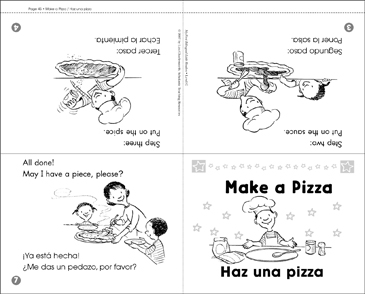 Haz una pizza / Make a Pizza - Printable Worksheet