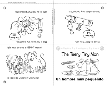 Un hombre muy pequeñito / The Teeny Tiny Man - Printable Worksheet