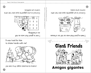 Amigos gigantes / Giant Friends - Printable Worksheet