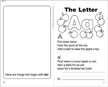 The Letter Aa - Printable Worksheet