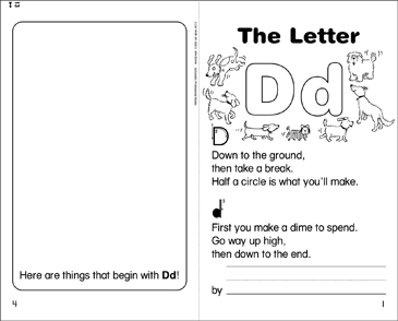 The Letter Dd - Printable Worksheet