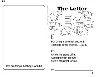 The Letter Ee Mini-Book - Printable Worksheet