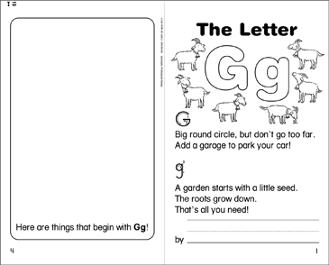 The Letter Gg - Printable Worksheet