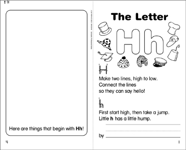 The Letter Hh Mini-Book - Printable Worksheet