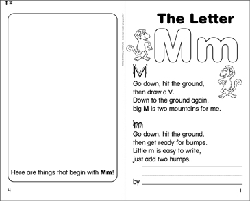 The Letter Mm - Printable Worksheet