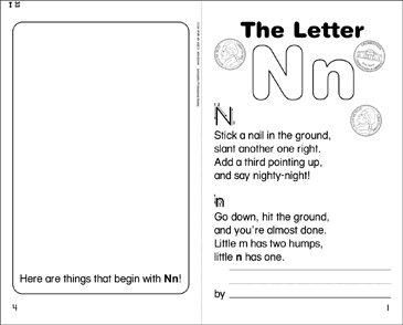 The Letter Nn - Printable Worksheet