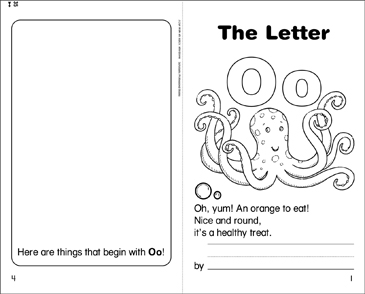 The Letter Oo - Printable Worksheet