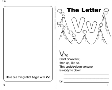 The Letter Vv - Printable Worksheet