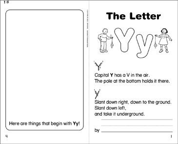 The Letter Yy - Printable Worksheet