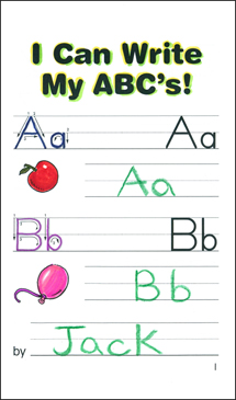 I Can Write My ABC's! - Printable Worksheet