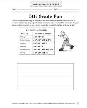5th Grade Fun: Math Bar Graph | Printable Skills Sheets