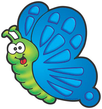 Blue and Green Butterfly - Image Clip Art