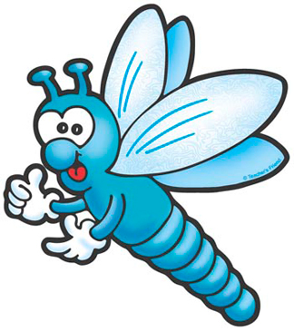 Blue Dragonfly - Image Clip Art