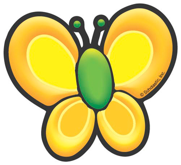 Yellow Butterfly - Image Clip Art