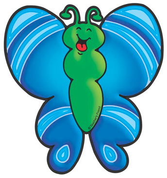 Blue Butterfly - Image Clip Art