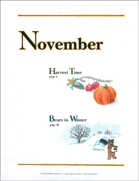 Harvest Time/Bears in Winter: November Hands-On Science - Printable Worksheet