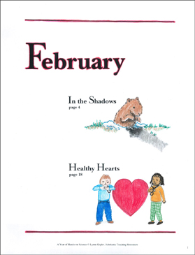 In the Shadows/Healthy Hearts: February Hands-On Science - Printable Worksheet