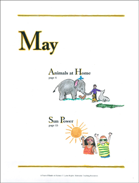 Animals at Home/Sun Power: May Hands-On Science - Printable Worksheet