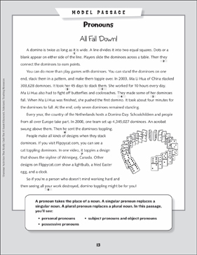 Grammar Mini-Lesson: All About Pronouns - Printable Worksheet
