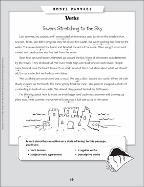 Grammar Mini-Lesson: All About Verbs - Printable Worksheet