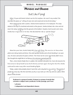 Grammar Mini-Lesson: All About Phrases and Clauses - Printable Worksheet