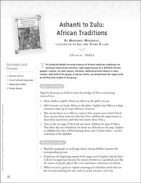 Ashanti to Zulu - African Traditions (Letter Cc): Teaching With Favorite Alphabet Books - Printable Worksheet