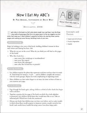 Now I Eat My ABC's (Letter Ff): Teaching With Favorite Alphabet Books - Printable Worksheet