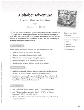 Alphabet Adventure (Letter Tt): Teach With Favorite Books - Printable Worksheet