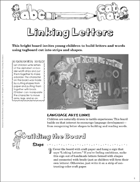 Linking Letters: Language Arts Bulletin Board - Printable Worksheet