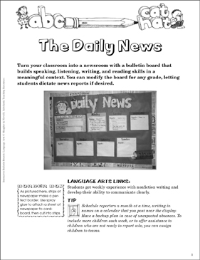 The Daily News: Language Arts Bulletin Board | Printable Bulletin
