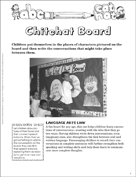 Chitchat Board: Literary Characters Bulletin Board - Printable Worksheet