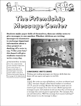 The Friendship Message Center: Bulletin Board - Printable Worksheet