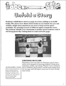 Unfold a Story: Shared Writing Bulletin Board - Printable Worksheet