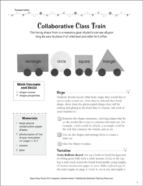 Collaborative Class Train - Printable Worksheet