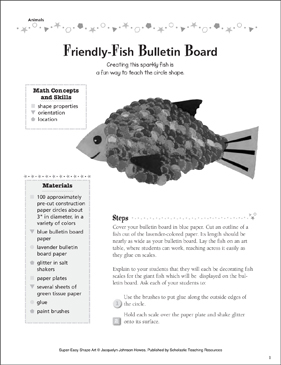 Friendly-Fish Bulletin Board - Printable Worksheet