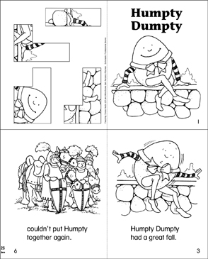 Shocking image with humpty dumpty printable