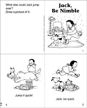 Jack, Be Nimble Mini-Book - Printable Worksheet