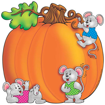 Pumpkin and Mice - Image Clip Art