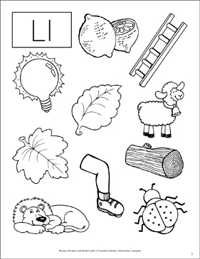 Letter Ll: Phonics Pictures - Image Clip Art