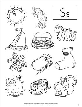 Letter Ss: Phonics Pictures - Image Clip Art
