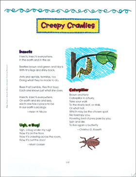 Creepy Crawlies: Pick a Poem - Printable Worksheet