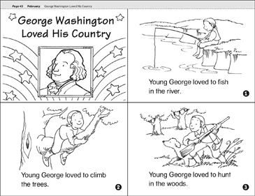 George Washington Loved His Country - Printable Worksheet