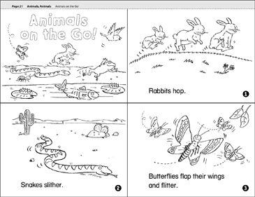 Animals on the Go - Printable Worksheet