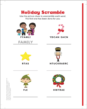 photograph about Holiday Word Scramble Printable identify Vacation Period: Phrase Scramble Printable Capabilities Sheets